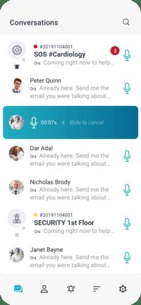 App di messaggistica per ospedali