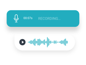 one-tap voice messages