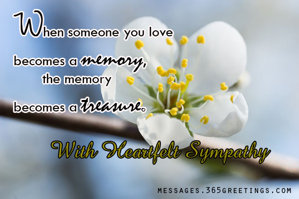 sympathy messages and wishes