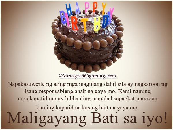 Happy Birthday in Tagalog - 365greetings.com
