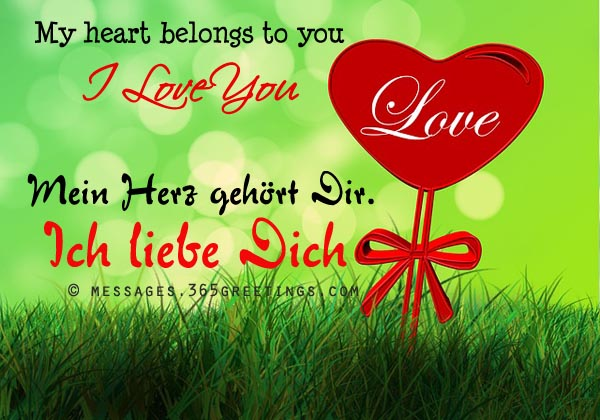 How To Say I Love You In German Ich Liebe Dich