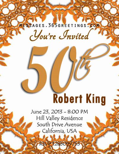 50th Birthday Invite Template Invitation Designs Ideas