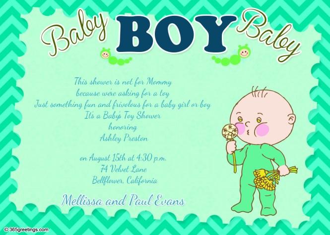 Baby Shower Invitation Wording For Boy
