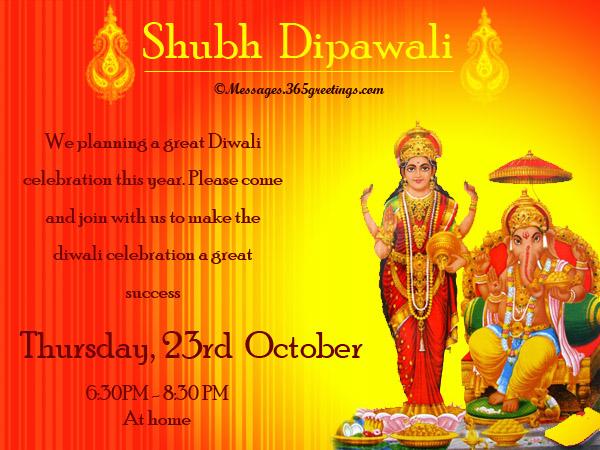Diwali Invitation Wordings For Family