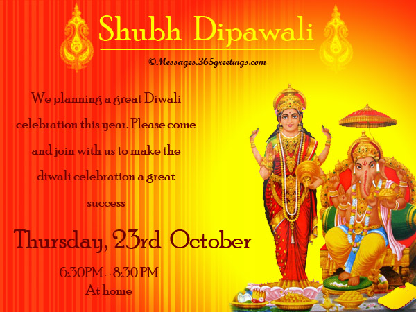 Diwali Invitation Wordings For Family