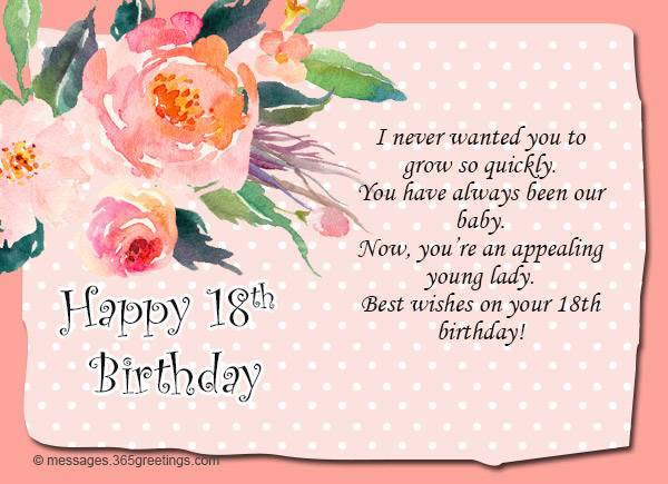18th birthday wishes messages