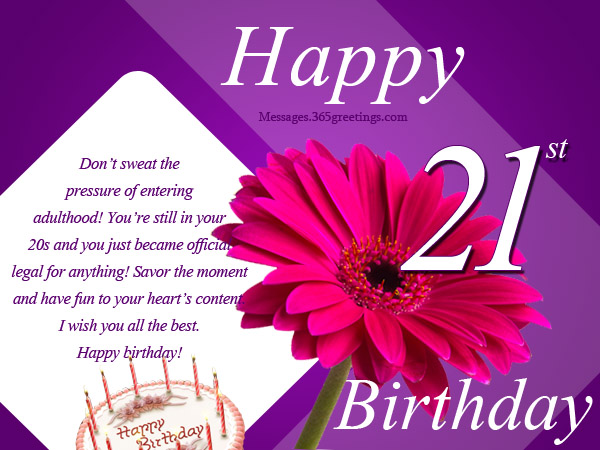 21st birthday wishes messages