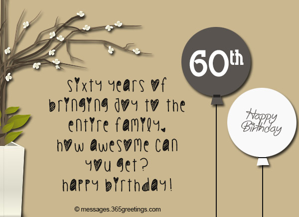 60th birthday sayings for