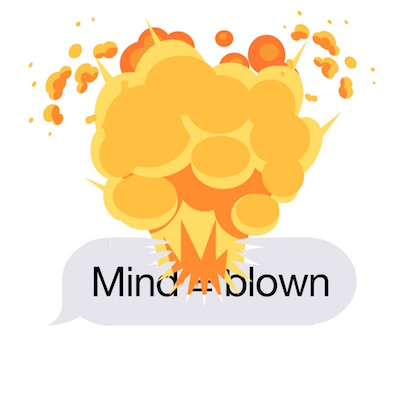 Exploding stickers for ios10 messages