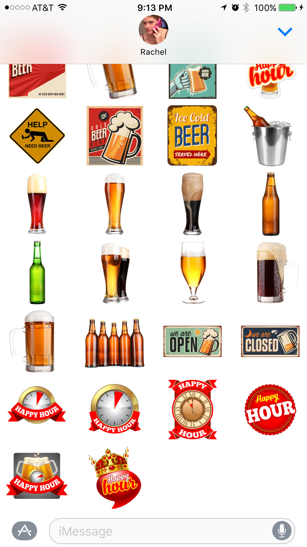 beer iOS messages stickers