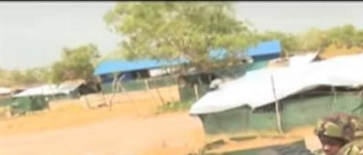 Imagery via Kenya NTV: A church seen inside the Kulbiyow base.