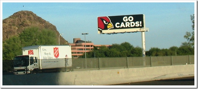 Go Cards sign