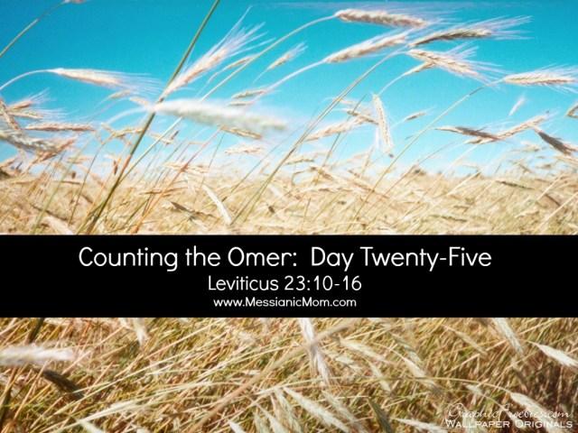Day Twenty Five Omer Count