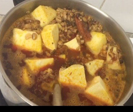 how to cook beans and yam