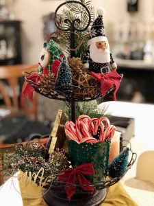 Styled Rustic Holiday Tiered Tray