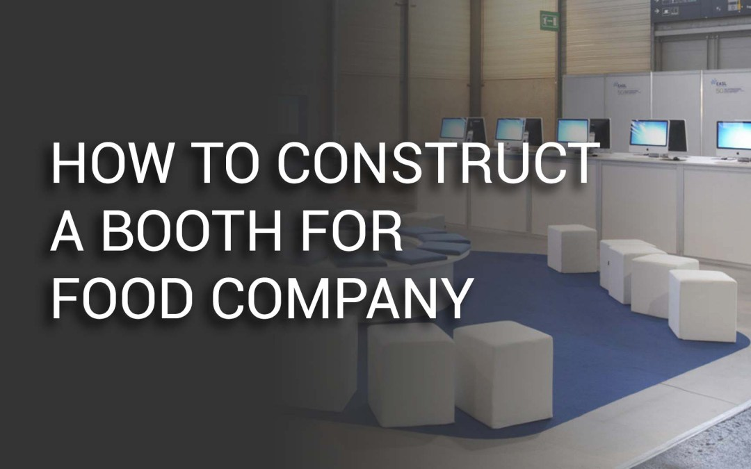 Create a booth for food company