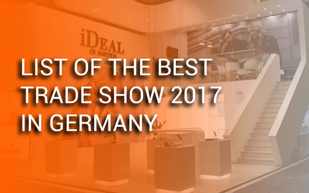 List of the best trade show 2017 in Germany