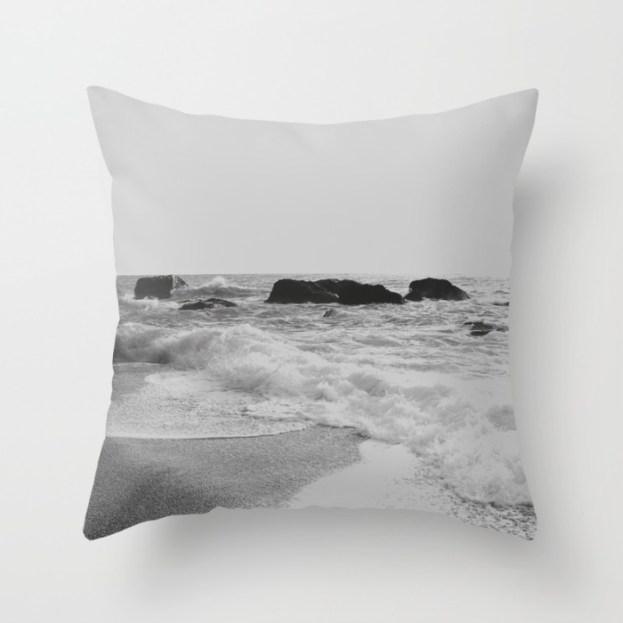 greek-seascape-black-and-grey-sea-rocks-ionia-island-lefkada-pillows