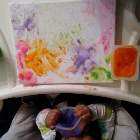 Finger Paint for Sensory Play That's Edible, Spreadable and Washable