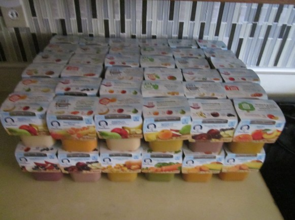 My stockpile of Stage 2 baby food