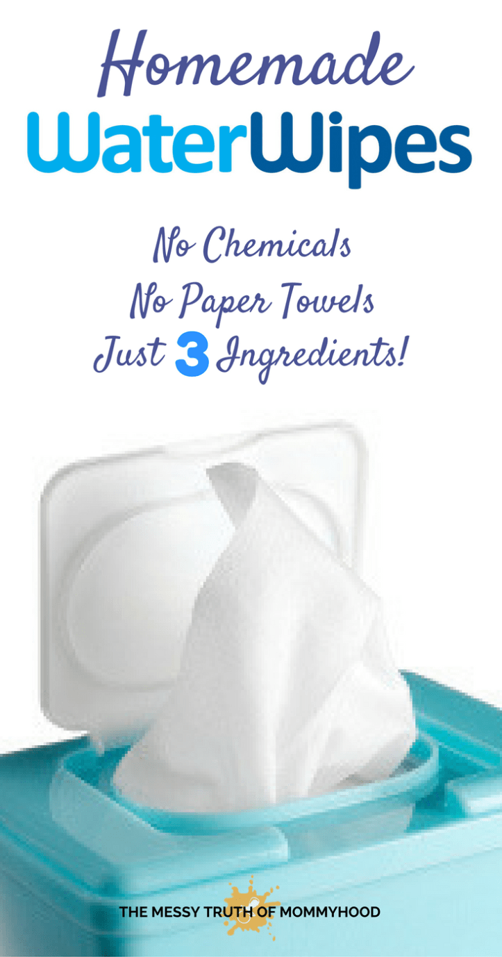 Homemade Water Wipes — No Chemicals, Just 3 Ingredients