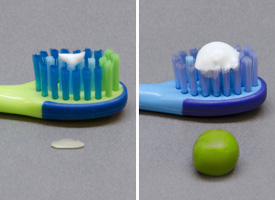 American Dental Association toothpaste amount suggestions