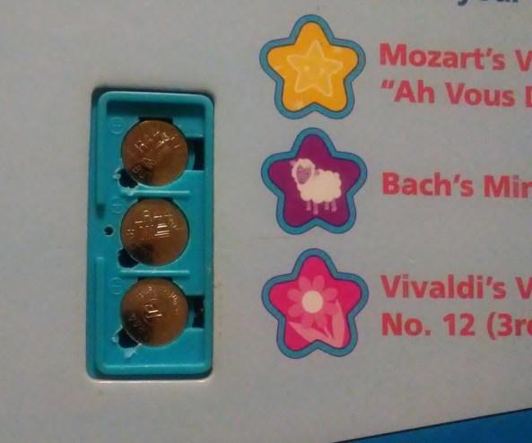 Button Batteries in my daughter's Little Einsteins book