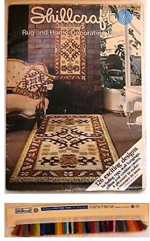 RUGS  SUPPLIES INCLUDING VINTAGE YARNS AND KITS