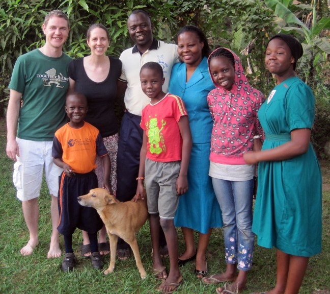 Ugandan host family, courtesy of Nicole Steele Wooldridge