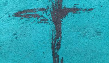 teal-wall-black-cross