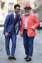 men-in-suits-telling-jokes-streetstyle