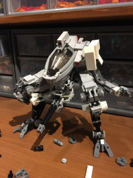 Now with the arm mockup. Initially, this build had long lanky arms but decided to scrap that.