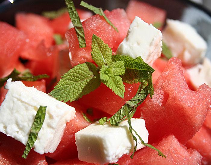 Feta, Minze und Melone