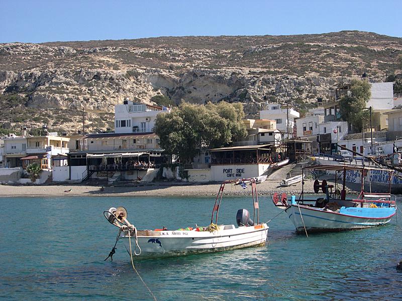 Der Hafen von Matala, Kreta