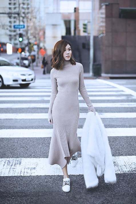 knit-dress-outfits-street-style-2017f1b8e3166bdd24c8a780d33c5c2e2222
