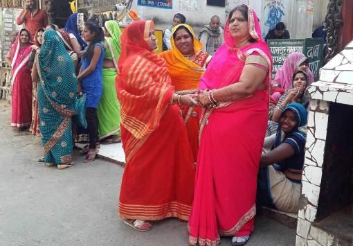 saris en Inde