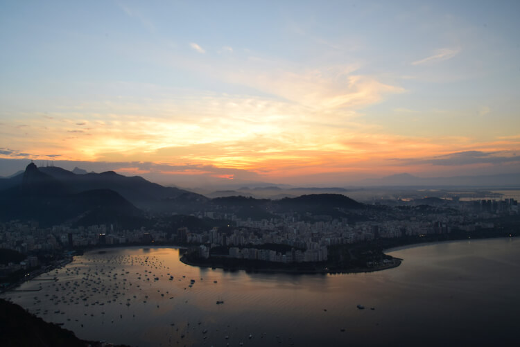 Rio coucher de soleil