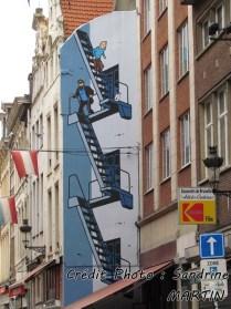 Bruxelles - Au hasard des rues, en BD