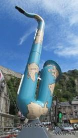 Dinant - Pont 'Charles de Gaulle', hommage à Adolphe Sax