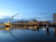 Dublin - Rivière Liffey, pont Samuel Beckett