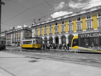 Lisbonne - Centre - Place Do Comercio, tram