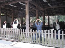 Nara - Sanctuaire de Kasuga Taisha, démonstration