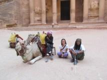 Pétra - Avec les bédouins à Khazneh ou le 'trésor'