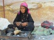 Pétra - Sur le chemin du monastère, les bédouins nous offrent du thé