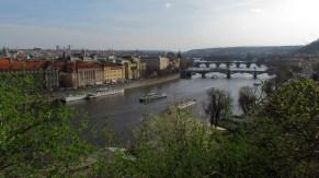 Prague - Parc Letenské Sady, vue sur la ville