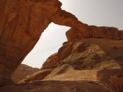 Wadi-Rum - Site Pont en Pierre 'Um Frouth'