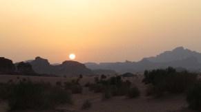 Wadi Rum - Désert, coucher du soleil