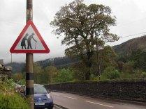 Grampian mountains, attention traversée de personnes âgées, lol