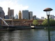 Melbourne - Flinder Station depuis Yarra River