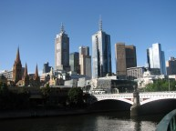 Melbourne - Yarra river, buildings